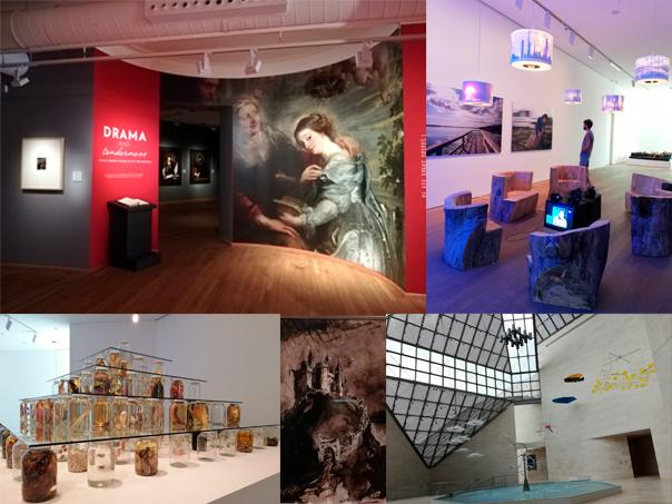 Salas del Museo Nacional de Historia y Arte y del Museo de Arte Contemporáneo de Luxemburgo