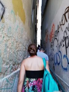Calles estrechas en Lisboa