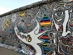 Parte de la 'East Side Gallery'.