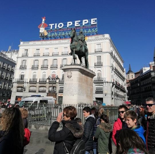 Estatua de Carlo III en la Puerta de Sol