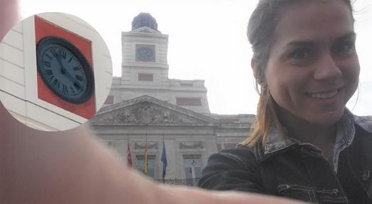 Reloj en Puerta de Sol