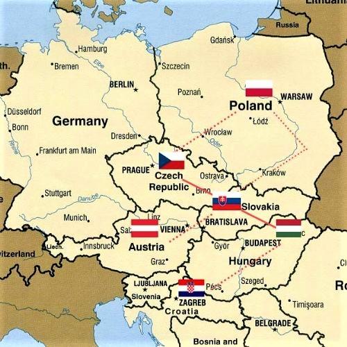 Recorrido de viaje por Europa Central