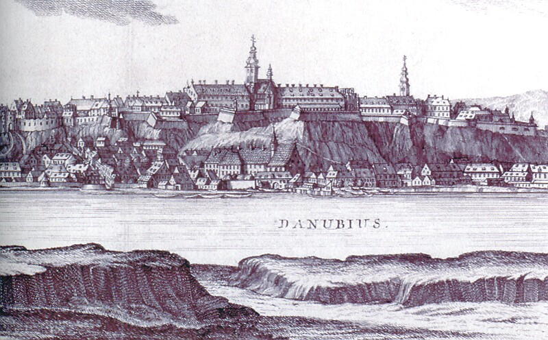 Mikovinyi - Schutzler: View of Buda with the Royal Palace, 1737 Fotografía extraída de