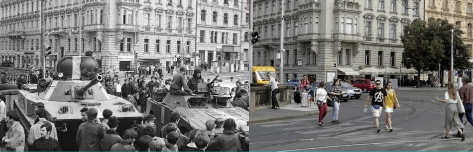 Calles del centro de Praga